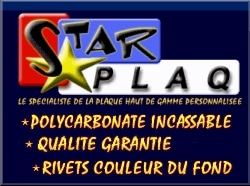 Plaques d immatriculation StarPlaq