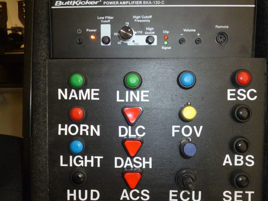 Buttonbox et ampli Buttkicker