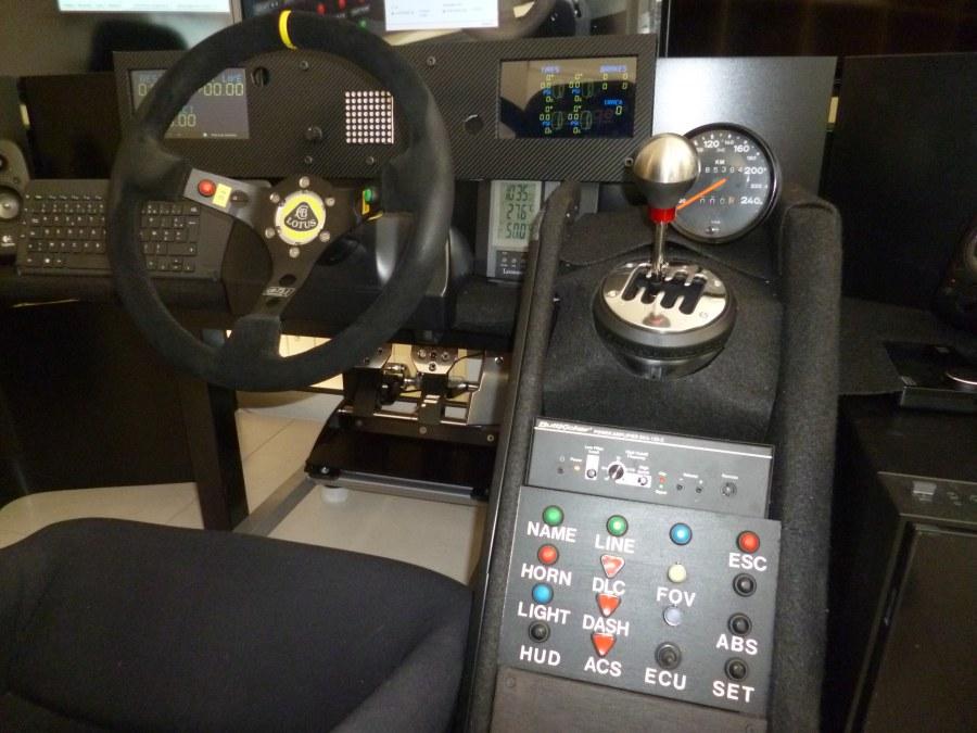 Console simulateur course