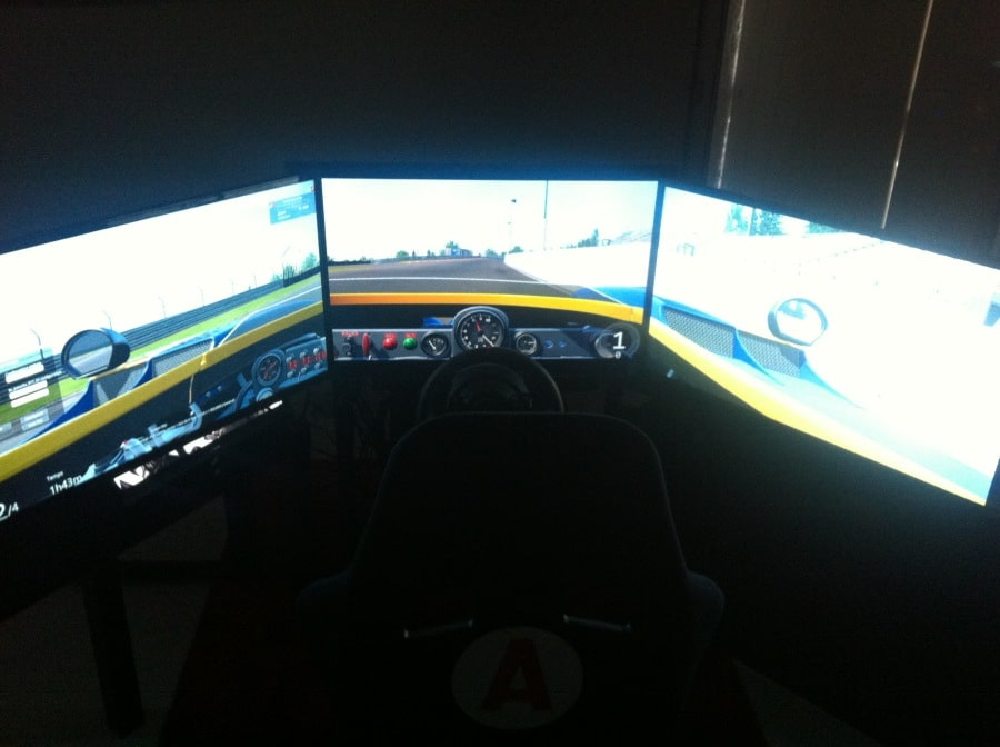Triple screen simrig France