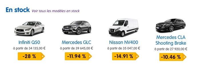 Stock voitures neuves chez mandataire