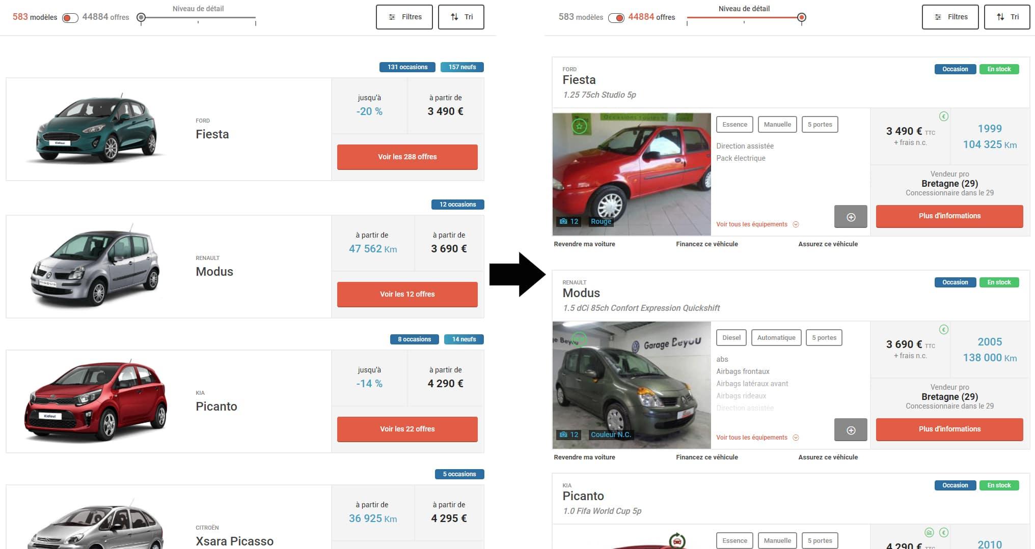 Recherche de prix voiture neuve